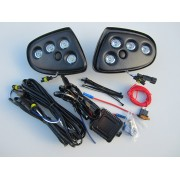 LED Day Running Light kit DRL Mercedes Sprinter 2006 to 2013  Black Textured