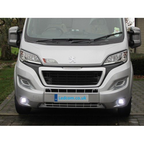 day running lights kit drl for x290 type fiat ducato 2014 onwards ebay. Black Bedroom Furniture Sets. Home Design Ideas