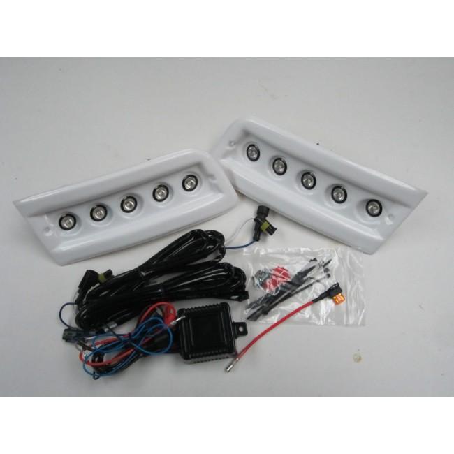 pod light kit white daytime running lights drl led ducato boxer relay