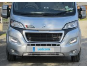 Pod Light Kit BLACK Daytime Running Lights DRL LED - Ducato, Boxer, Relay, X290. 2014 onwards