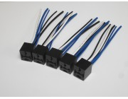 Relay Sockets for 4 or 5 pin Relays -  Qty - 5