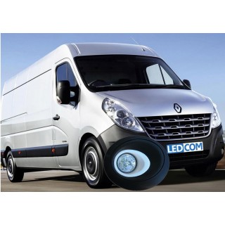 LED Day Running Lights Kit DRL  Renault Master, Nissan Interstar 2010 onwards to paint