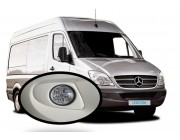 LED Round Day Running Light kit DRL Mercedes Sprinter 2006 to 2013 to Paint