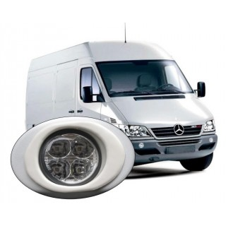 LED Day Running Light kit DRL Mercedes Sprinter 2000 to 2006 to paint