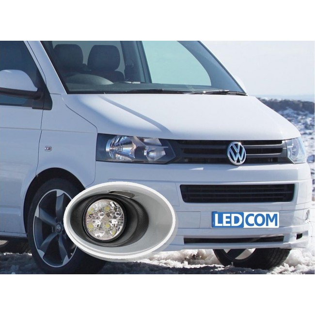 VolkswagenT5 Transporter DRL Kit Daytime Running Lights 2010 to 2015 ...