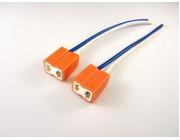 H7 Ceramic Bulb Socket Connector x 2