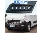 Pod Light Kit Daytime Running Lights DRL Renault Master 2010 onwards Black Textured