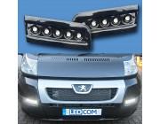 Pod Light Kit BLACK Daytime Running Lights DRL LED - Ducato, Boxer, Relay, X250