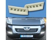 Pod Light Kit READY TO PAINT Daytime Running Lights DRL LED - Ducato, Boxer, Relay, X250