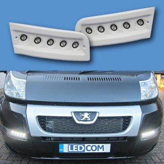 Pod Light Kit WHITE Daytime Running Lights DRL LED - Ducato, Boxer, Relay, X250