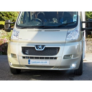 LED Day Running Lights Kit for Peugeot Boxer, Vans and Motorhomes 2007 to 2014