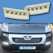 Pod Light Kit WARM WHITE Textured Daytime Running Lights DRL LED - Ducato, Boxer, Relay, X250